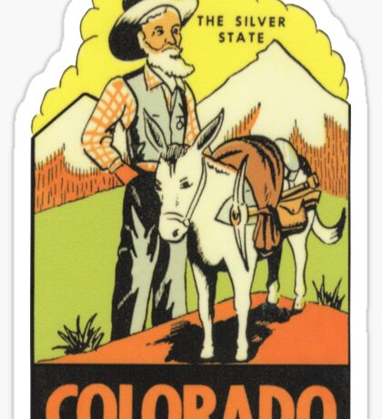 Colorado CO State Vintage Travel Decal Sticker