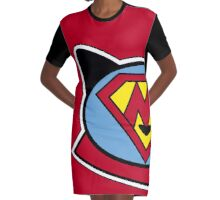 Super Meow Graphic T-Shirt Dress
