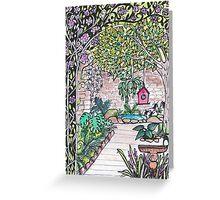 Val's Beautiful Garden - Kerry Beazley Kaboom Art Greeting Card