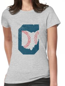 Cleveland Ohio Baseball Womens Fitted T-Shirt