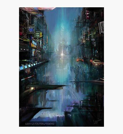 Tokyo Sci-fi concept Photographic Print