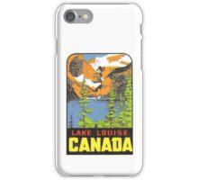 Lake Louise Alberta AB Canada Vintage Travel Decal iPhone Case/Skin