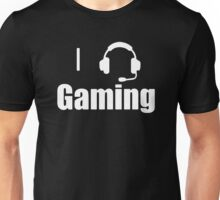 I Love, Heart Gaming Headset Cool Video Game  Unisex T-Shirt