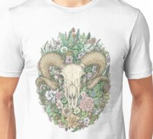 Life's Mystery: Ram Skull. Colored Version Unisex T-Shirt
