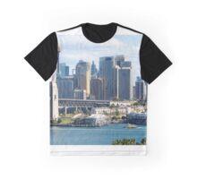 Sydney Harbour Bridge and City Centre Graphic T-Shirt