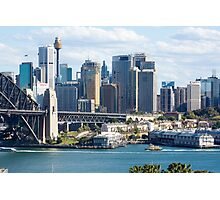 Sydney Harbour Bridge and City Centre Photographic Print