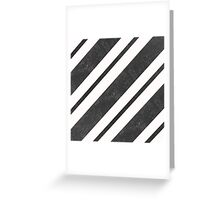 Stylish abstract background with textured black graphic diagonal lines Greeting Card