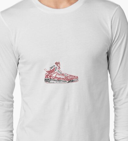 Jordan Spizike shoe/sneaker word art Long Sleeve T-Shirt