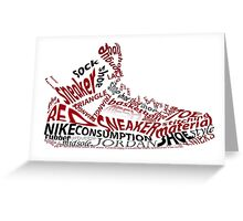 Jordan Spizike shoe/sneaker word art Greeting Card