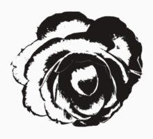 Camellia Flower Stylized  One Piece - Long Sleeve