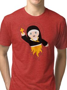 Nun with Superpowers! Tri-blend T-Shirt