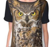 Canadian Horned Owl Chiffon Top