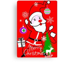 Merry Christmas Cute Santa by Francisco Evans ™ Canvas Print