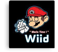 Mario - Mario Time ! Red Variant Canvas Print