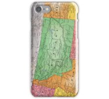 Vintage 1939 Montana map - gift for her - fashion - unique - birthday gift - special memorial gift idea iPhone Case/Skin