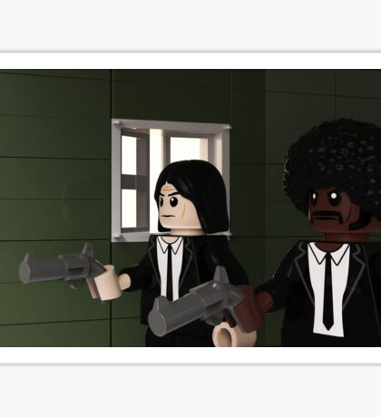 Brick Fiction Parody Variant 02 Sticker