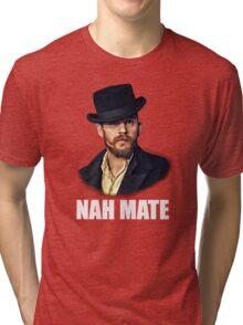 Alfie Nah Mate - White Tri-blend T-Shirt