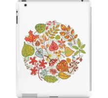 Circle composition with Autumn leaves,branches,berries iPad Case/Skin
