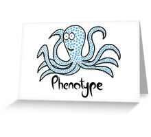 Blue-squared octopus Greeting Card