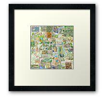 69 Maps Framed Print