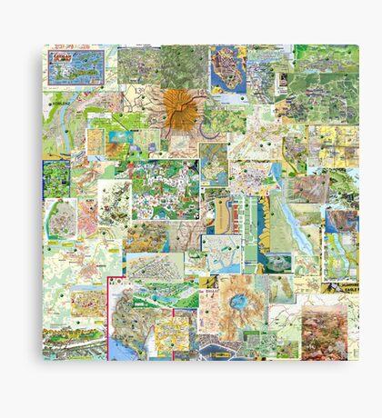 69 Maps Canvas Print