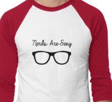 Nerds are Sexy Men's Baseball ¾ T-Shirt