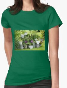 furnished garden Womens Fitted T-Shirt