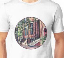 Boston MA - Walking the Dog on Mount Vernon Street Unisex T-Shirt