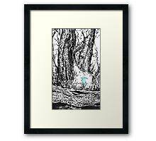 Glowing Bunny Framed Print