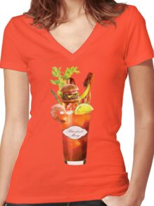 Bloodiest Mary Women's Fitted V-Neck T-Shirt