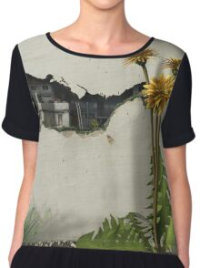 Between the Cracks Chiffon Top