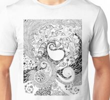 Facing the Unknown - duco divina doodle Unisex T-Shirt