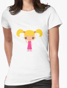 Cute Emma waving - Hello World - Womens Fitted T-Shirt