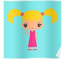 Cute Emma waving - Hello World - Poster