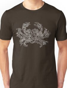 Crustaceans Evolution Tree of Life (Inverted) Unisex T-Shirt