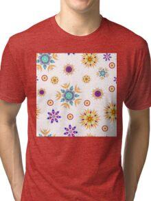 Abstract floral seamless pattern design Tri-blend T-Shirt