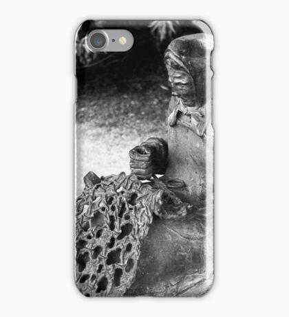 Fisherman's wife fixing the net iPhone Case/Skin