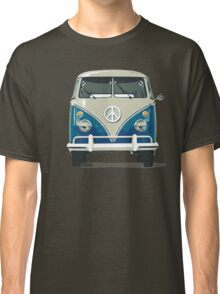 volkswagen blue hippie van cool hippie rock n roll psychecelic rock jimi hendrix flower kids peace and love t shirts Classic T-Shirt