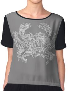 Crustaceans Evolution Tree of Life (Inverted) Chiffon Top