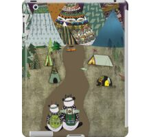 Camping is the answer iPad Case/Skin