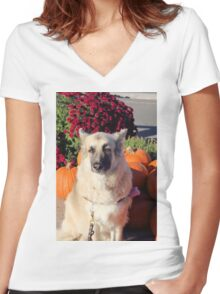 Fall GSD Women's Fitted V-Neck T-Shirt