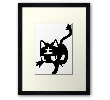 Litten Black Framed Print
