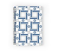Israel - Checkered seamless pattern of the flags with shadows. Spiral Notebook