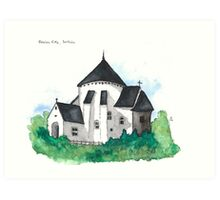 Østerlars Church, Bornholm Art Print