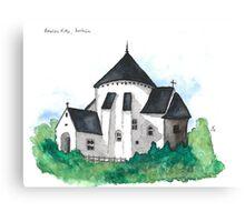 Østerlars Church, Bornholm Canvas Print