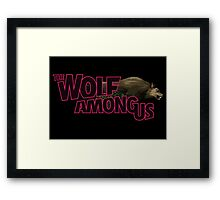 The Wolf Among Us - Logo and Bigby V2 Framed Print