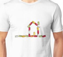 coloured jellybabies formed as a house Unisex T-Shirt