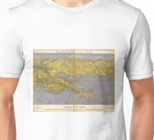 Vintage Pictorial Map of The Gulf (1861) Unisex T-Shirt
