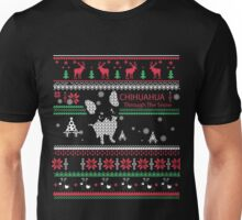 Chihuahua through the snow - Christmas Gift  Unisex T-Shirt