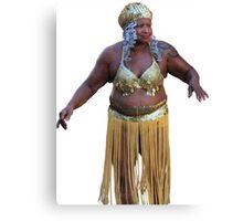 Belly Dancer Hula Girl Canvas Print